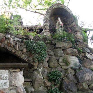 Mariastatyn har stått i grottan sedan 50-talet